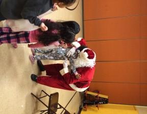Santa visits Engelhard